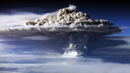 CORDON EL CAULLE EXPLOSION - earthquake, wind, landscapes, Chile, Mushroom cloud, smoke, volcano, ashes