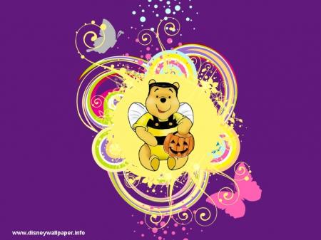 Winnie The Pooh Halloween Movies Entertainment Background