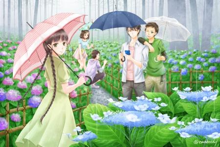 Flower Garden Other Anime Background Wallpapers On Desktop Nexus Image 1566351