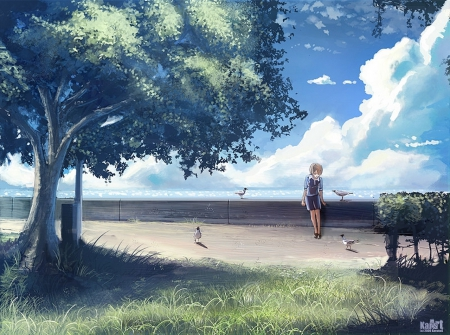 Alone Anime Girls Wallpapers And Images Desktop Nexus Groups