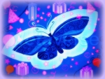 ✫Blue Butterfly Christmas✫