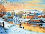 English Canal Boat Winter