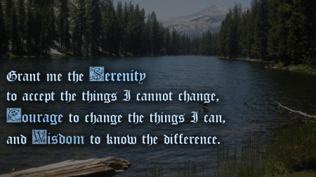 Serenity Prayer Other People Background Wallpapers On