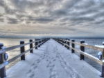 fantastic pier in winter hdr
