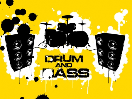 DNB - dnb, yellow, abstract, drum and bass