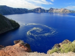 Giant Swirl of Pollen at Crater Lake National Park, Oregon