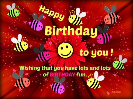 Happy Birthday Card Collages Abstract Background