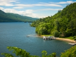 Lake George in Adirondack State Park, New York