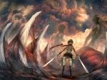 Mikasa Vs. Titans