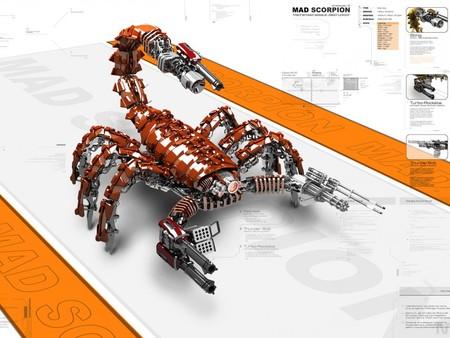 mad scorpion - cg, scorpion, autobots, transformers, mad