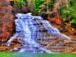 fantastic cascading waterfalls hdr