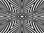 Fractal Star Mandala _black and white