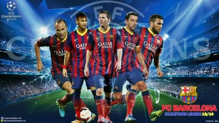 FC Barcelona Champions League Wallpaper 2013 2014
