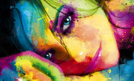 Colorful beauty 3d and cg abstract background wallpapers on desktop nexus image 1573946 - Beautiful woman painting hd ...