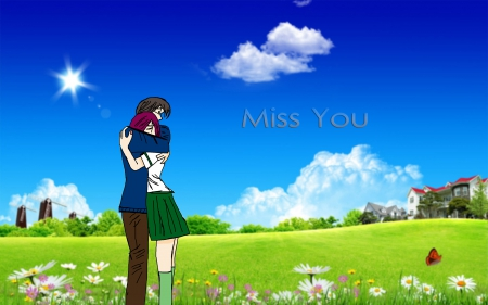 Miss you - sad, Miss you, hug, love