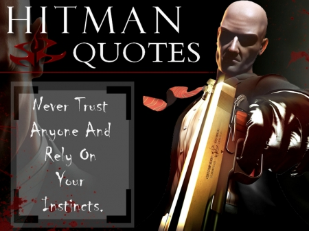 Agent. 47 (Quote #4) - Video Games, Bloody, Silent Assassin, Blood Money, Quotes, Crime, Gun, Aim, Hitman, Game Character, Agent47