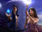 Warlock and sorceress