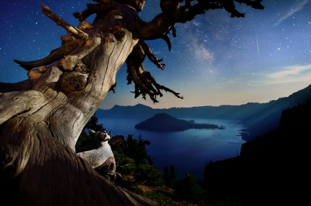 Starry Night Over Crater Lake, Oregon - shroom, Star, Oregon, Nite, Crater, Crater Lake, Starry Night Over Crater Lake, Starz, Starry Nite, Starry, Lake, Starry Night, Night
