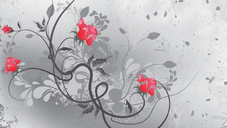 A matter of gray flowers nature background wallpapers on desktop a matter of gray leaves gray black and white flower grey mightylinksfo