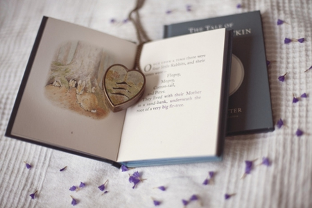 ♥ - diary, purple, love, heart, book, flowers, story