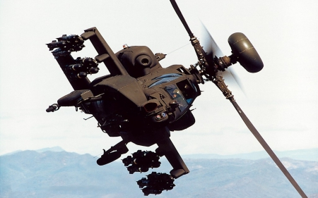 The Chase Is...ON!! - military, aircraft, apache, helicopter