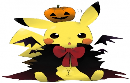 Pikachu - cute, pumpkin, wallpaper, pikachu