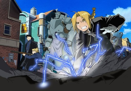 Full Metal Alchemist - edward, riza, full metal alchemist, roy, alphonse, anime