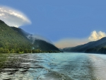 wonderful river at hofkirchen austria