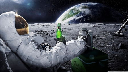 Can you believe they put beer on the moon