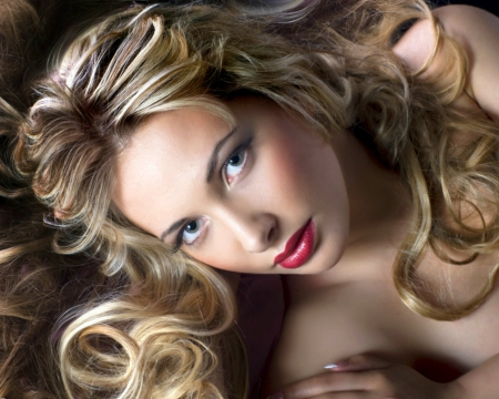 Pretty face - blond, face, model, woman