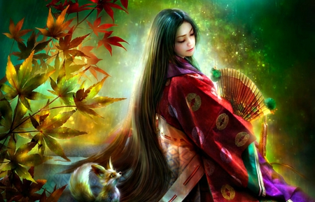 Kuzumohime Fantasy Amp Abstract Background Wallpapers On