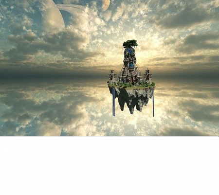 A cool Image that I don't know how to descripe - Floating, in, air, castle, minecraft