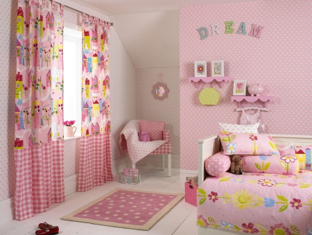 Pretty Girly Bedroom - pretty, girly, lovely, curtains, bedroom, pink