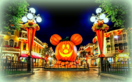 Halloween At Disneyland Funny Entertainment Background