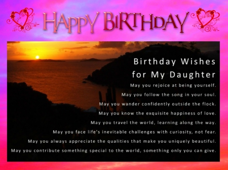Happy Birthday Daughter Other Abstract Background Wallpapers On