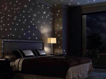 starry night in a bedroom stars pretty nice bedroom night - Bedroom Night
