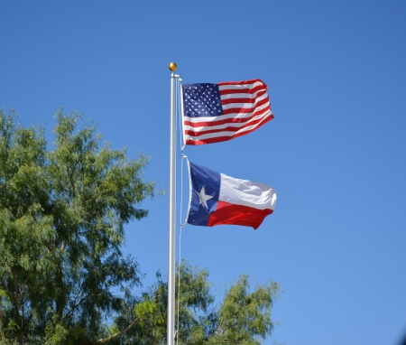 Stars Stripes Flag USA Texas