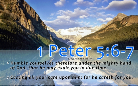 1 Peter 5:6-7 - Other & Nature Background Wallpapers on