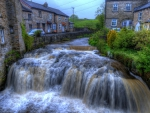 amazing hawes waterfall in yorkshire england hdr