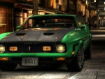 carbon fiber mach 1 mustang in an alleyway hdr