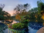 Evening Lagoon Pool Panorama