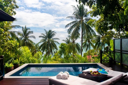 Sea View Pool Hideaway - resort, retreat, sea, beach, swimming, exotic, islands, view, holiday, ocean, pool, plunge, paradise, spa, jacuzzi, island, hideaway, tropical