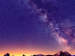the milky way above the alps