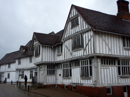 Guildhall at Lavenham - Rain, Half Timbered, Past, Suffolk