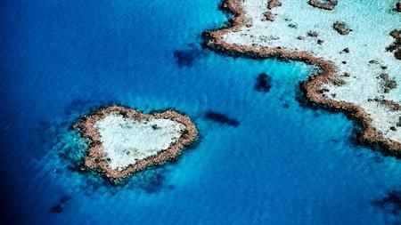 Heart Island - land, water, heart, island