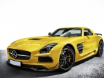 lovely mercedes benz sls in yellow
