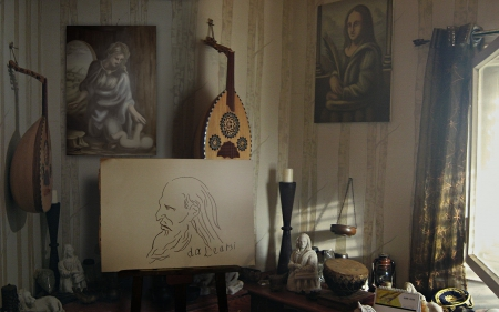 Workroom - dalearsi, Renaissance, Interior, Middle East, Art, da Vinci, Wallpapers, Ancient, da Learsi, House, Artist