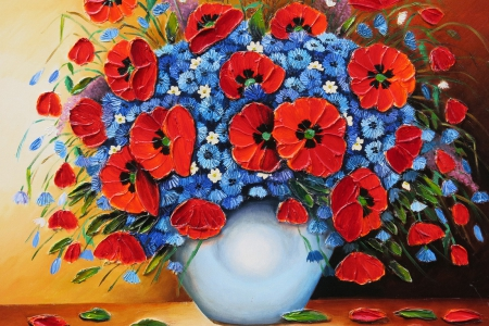 Bouquet of fresh flowers other abstract background wallpapers on bouquet of fresh flowers pretty art lovely fresh poppies vase mightylinksfo
