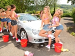 Women Car Washing