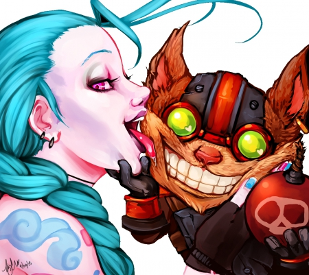 league of legends - jinx, bomb, ziggz, league of legends